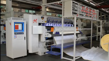 HY-W-BSJ computer shuttleless multi-needle quilting machine mattress machinery and equipment